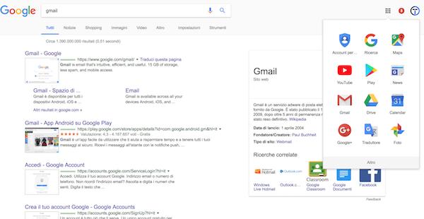 Google account Google Foto