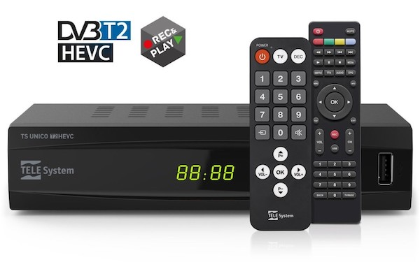 Televisore DVB-T2 decoder