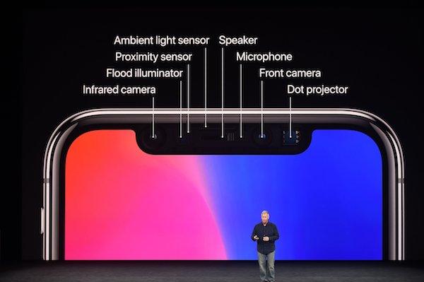 iPhone X FaceID sensori