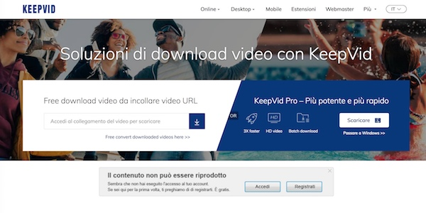 YouTube KeepVid