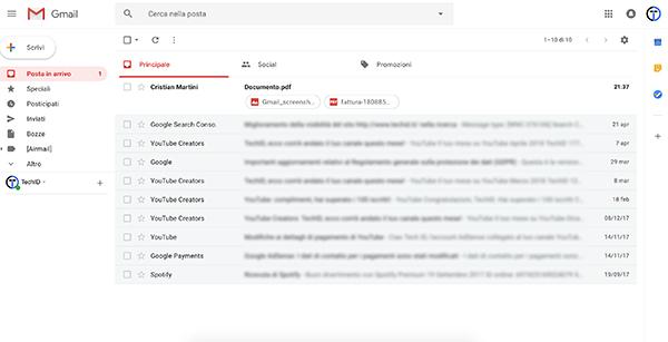 Gmail Allegati