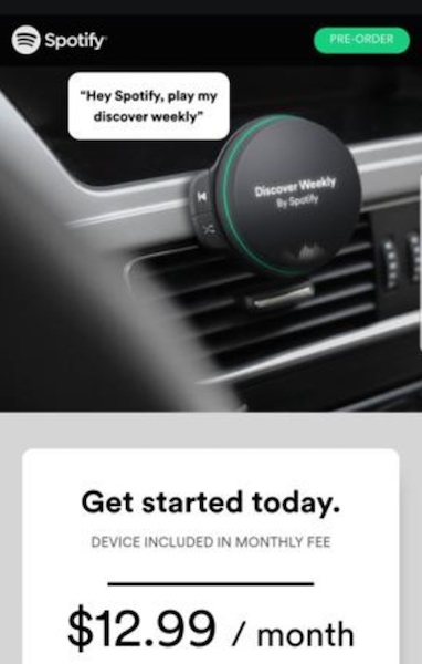 Spotify Speaker abbonamento
