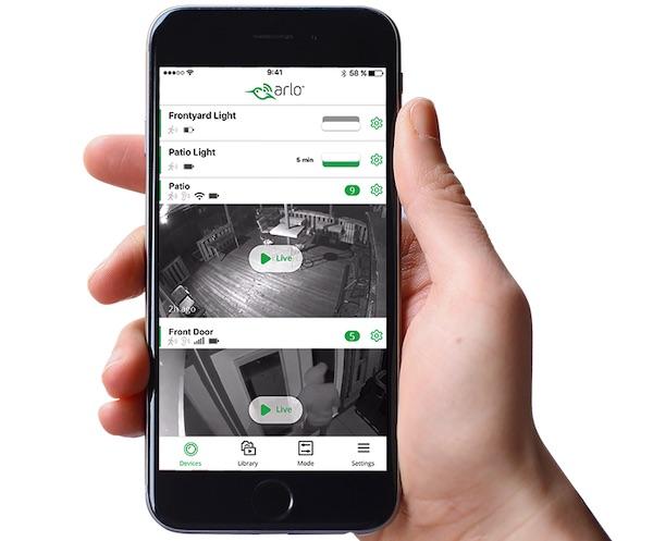 Arlo Security Light app