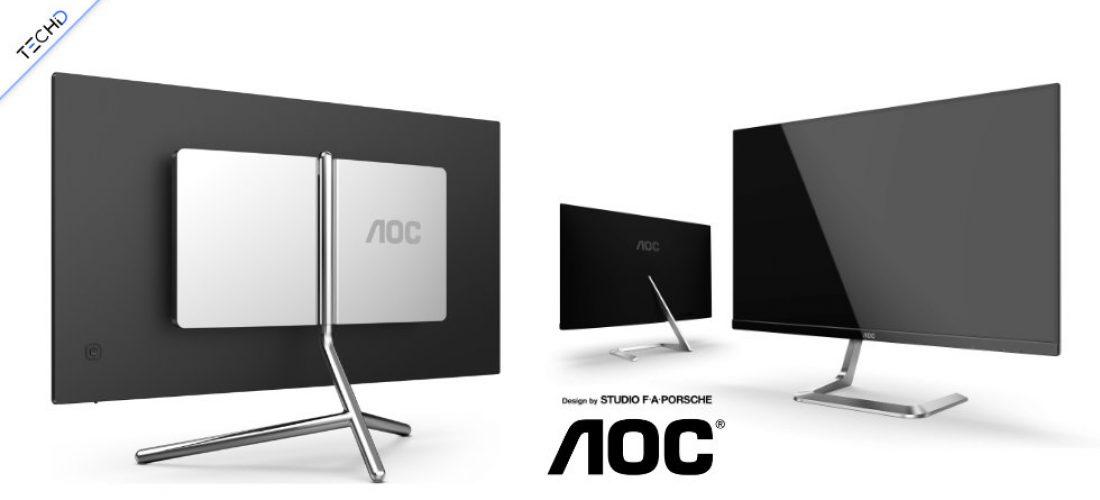 AOC presenta due Nuovi Monitor ideati dallo Studio F. A. Porsche