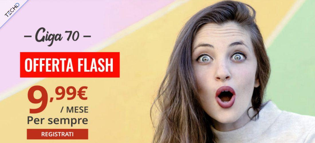 Iliad : Offerta Flash con Illimitato e 70GB a 9,99 euro!