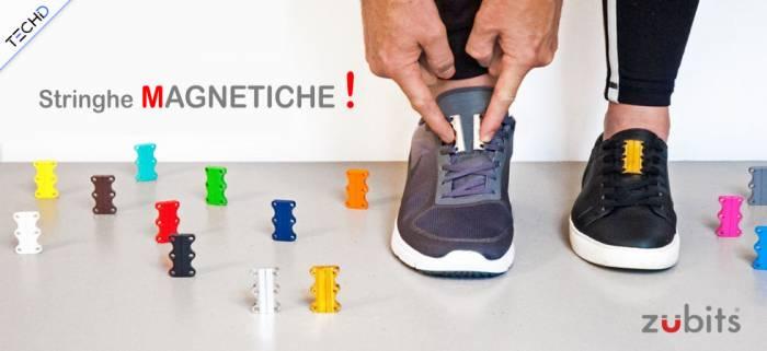 Lacci magnetici per allacciare le scarpe in tempo record